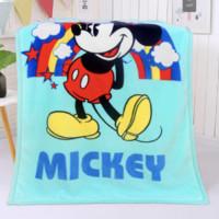 迪士尼 婴儿毛毯 双层加厚米奇(100*140cm)