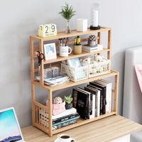 书桌学生书架简易桌面置物架家用书柜宿舍收纳