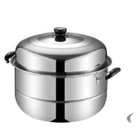Quail 不锈钢蒸锅 加厚二层 28cm