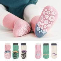 馨颂 宝宝防滑全胶底地板袜 3双装