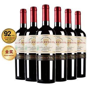 干露 (Concha y Toro) 典藏卡曼纳干红葡萄酒 750ml*6瓶 整箱装  智利进口红酒