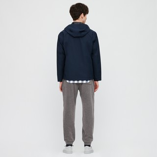 UNIQLO 优衣库 男士纯色摇粒绒松紧束脚裤431404-08 深灰色 S