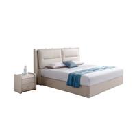 暖爱季:CHEERS 芝华仕 C056 现代真皮气压储物床+乳胶床垫 1.5/1.8m
