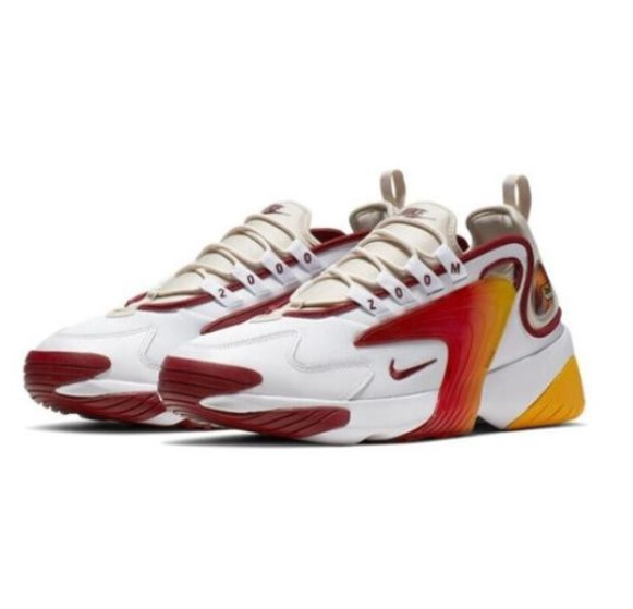 NIKE 耐克 Zoom 2K 男士跑鞋 AO0354-100 白红黄 42