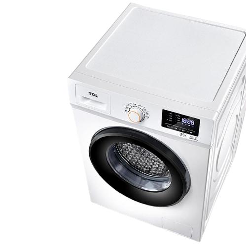 TCL G80L100-B 滚筒洗衣机 8kg 芭蕾白