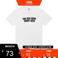 Vans范斯 男子短袖T恤 Vans X Baker联名款运动TEE官方 白色 XL