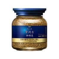 日本原装进口 AGF MAXIM马克西姆冻干速溶无砂糖黑咖啡粉 精选蓝瓶80g/瓶 味浓香醇 单罐 *2件