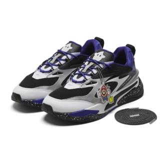 PUMA 彪马 SUPER MARIO联名系列 RS-Fast 中性休闲运动鞋 380198-01 黑色/皇家蓝