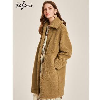 Eifini 伊芙丽 女士中长款加厚毛外套