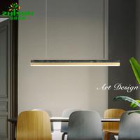 植树照明 2020新款轻奢极简餐厅灯吊灯现代简约饭厅吧台灯led长条灯具设计师北欧餐桌灯 小号(长88CM-35W) 中性光