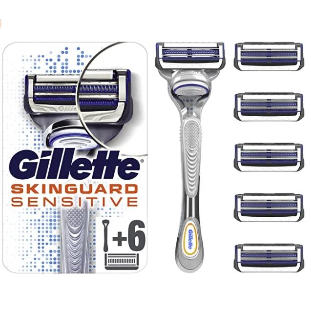 Gillette 吉列 云感手动剃须刀套装(1刀架+6刀头)