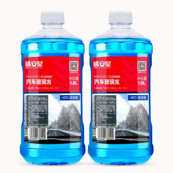 TUHU 途虎 途安星 -10℃ 汽车玻璃水 1.8L *2瓶 *2件 *2件