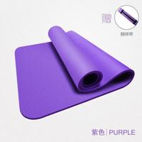 瑜伽垫套装 瑜伽垫+绑带 紫色