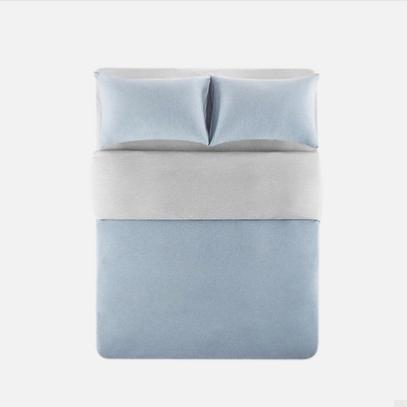 YANXUAN 网易严选 天竺棉全棉针织拼色四件套 1.2m