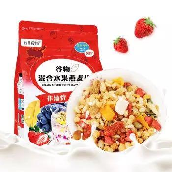五谷食尚 混合水果燕麦片 800g *2件
