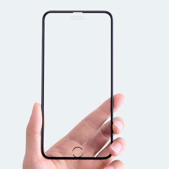 菲天 iPhone系列手机钢化膜 高清版 黑色 3片装