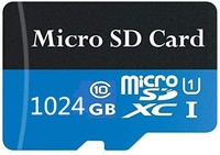 Micro SD 卡 1TB Class 10 高速存储卡,适用于手机、平板电脑和电脑