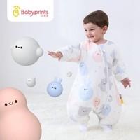 需用券 Babyprints 婴儿睡袋宝宝抱被防踢被秋冬季加厚幼儿防惊跳襁褓包巾分腿式 80 克里克利 *2件