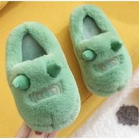 暖爱季:小橘兔     儿童棉拖鞋