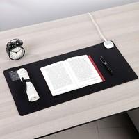 deli 得力 18351 电脑暖手桌面发热垫 黑色 700*330mm