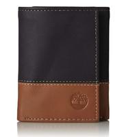 Timberland 男式 三折皮革钱包 带证件展示窗口