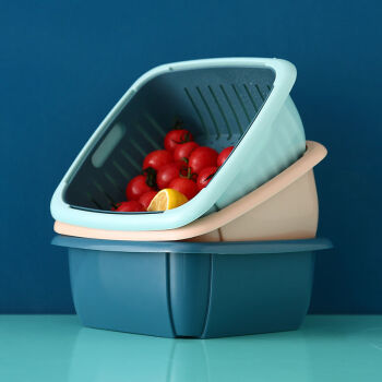 AISIDUN/爱思顿 家用洗菜沥水篮 2个装