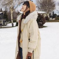 暖爱季:INMAN 茵曼 1884121173 女士宽松休闲加厚羽绒服