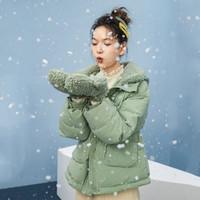暖爱季:INMAN 茵曼 1804045 女士抽绳防水羽绒服