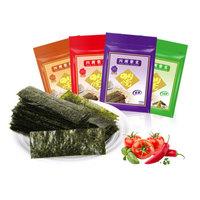 四洲 紫菜80g 即食海苔儿童休闲零食小吃寿司包饭食材独立包装 芥辣味100小袋 *3件