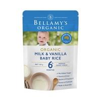 BELLAMY'S 贝拉米 有机婴儿香草味高铁米粉米糊125g 2袋装 *4件