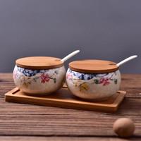 移动专享 : 佰润居 日式陶瓷釉下雪花釉调味罐套装 2个装