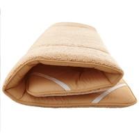 暖爱季、疯狂星期三:Roland 罗兰家纺 加厚保暖羊羔绒床垫 驼色 0.6*1.6m