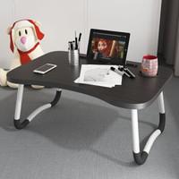 简易折叠写字桌 60*40*28cm(黑色+手机槽)