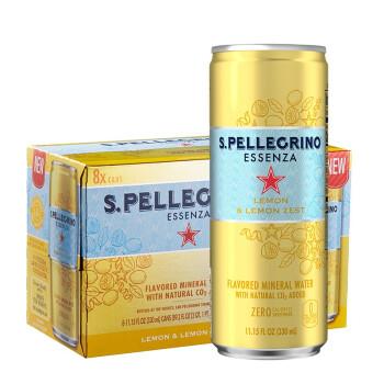 S.Pellegrino 圣培露 果萃充气柠檬风味饮料 330ml*24罐 *3件