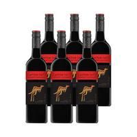 百亿补贴:澳洲黄尾袋鼠 赤霞珠红葡萄酒 750ml*6瓶