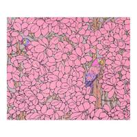 胡杨限量版画 《躲猫猫》亲笔签名 限量99版 粉色 手工画框