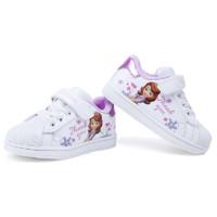 Disne 迪士尼 女童加绒小白鞋