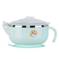 Richell 宝宝304不锈钢注水碗儿童碗喂养餐具