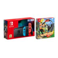 Nintendo 任天堂 Switch 国行续航加强版 红蓝游戏机+《健身环大冒险》游戏兑换卡