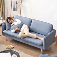 家逸布艺沙发 透气棉麻客厅家具组合套装懒人北欧现代简约小户型布沙发 三人沙发RF-SF059