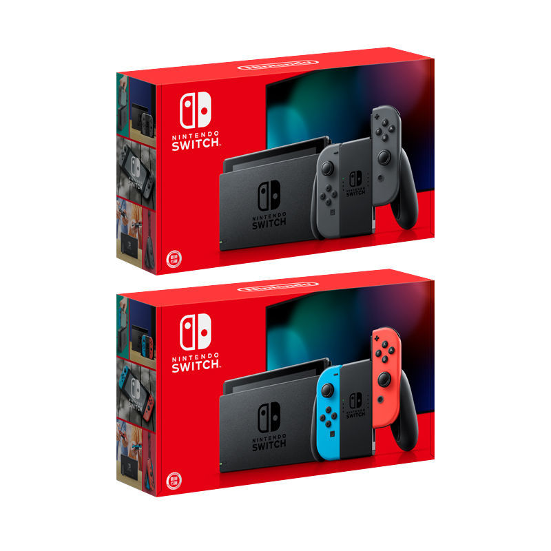 任天堂Nintendo Switch游戏主机掌机 续航版 日版 红蓝/黑灰