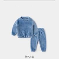爱丽宝麟 儿童珊瑚绒保暖内衣套装