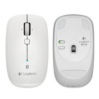 logitech 罗技 M558 蓝牙 无线鼠标 1000DPI 白色
