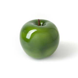 Bull & stein水果雕塑艺术摆件 苹果 光釉陶瓷 绿松石色