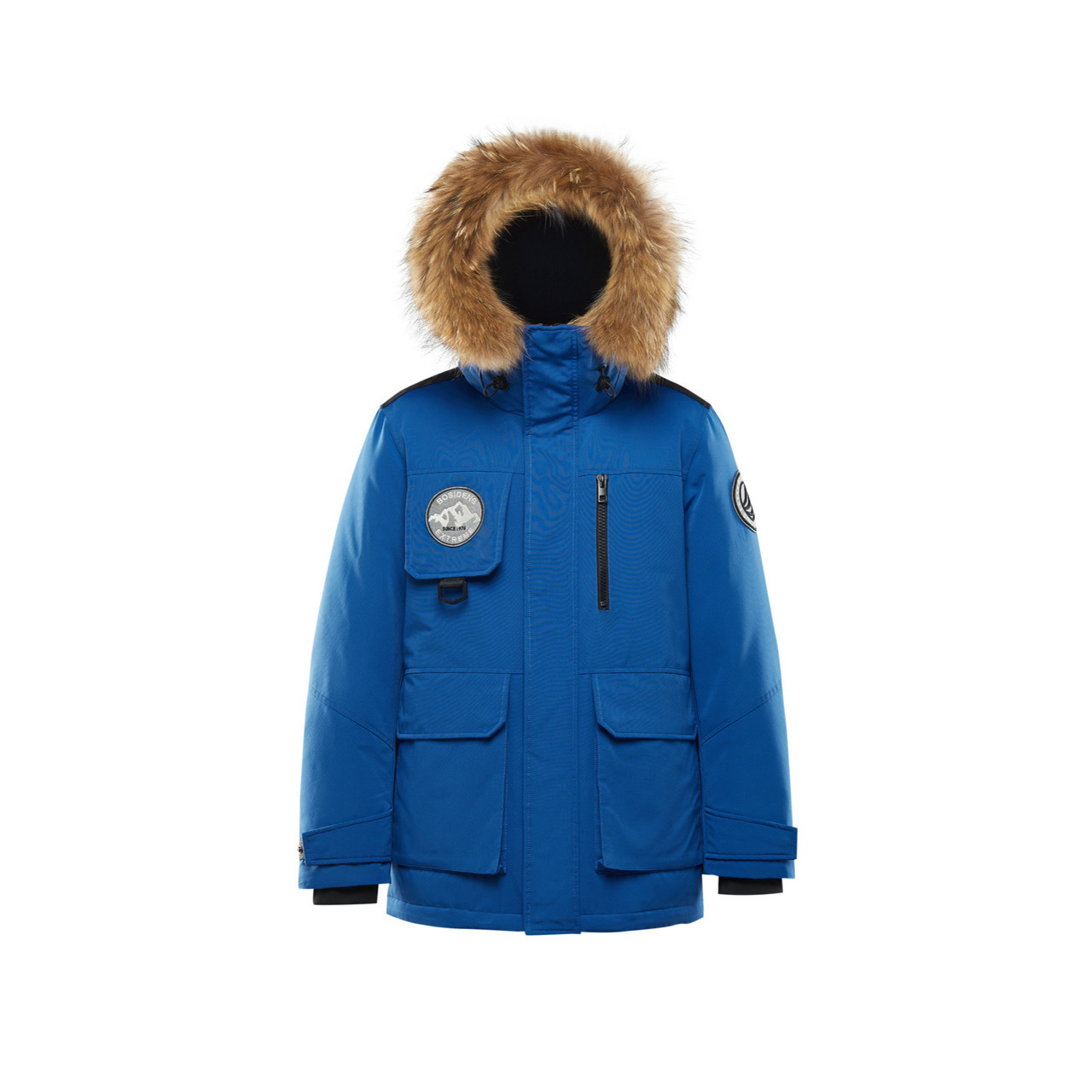 BOSIDENG 波司登 极寒系列男士白鹅绒毛领短款工装风羽绒服B00142305