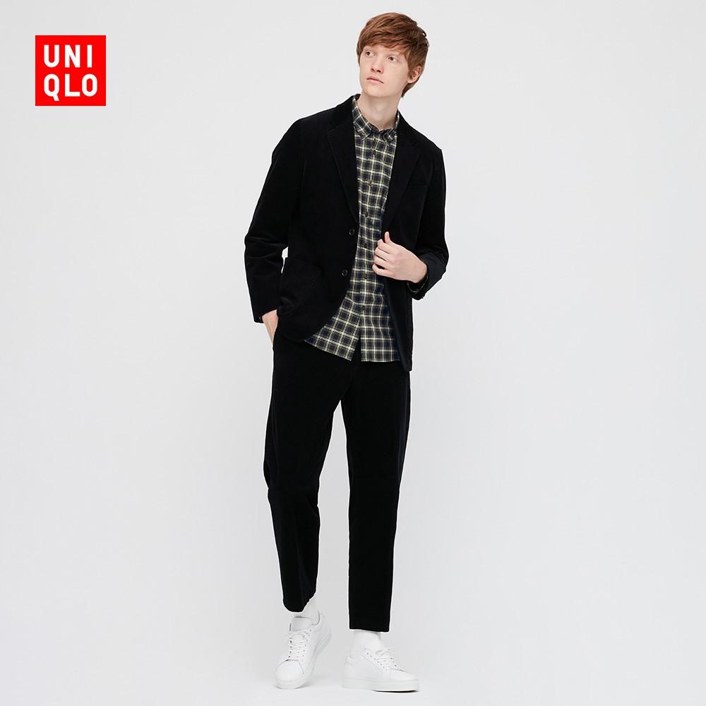 UNIQLO 优衣库 431472 男士优质长绒棉格子衬衫