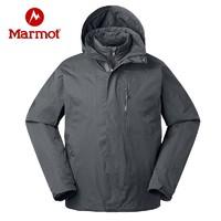 Marmot 土拨鼠 V31470 男士羽绒保暖三合一冲锋衣