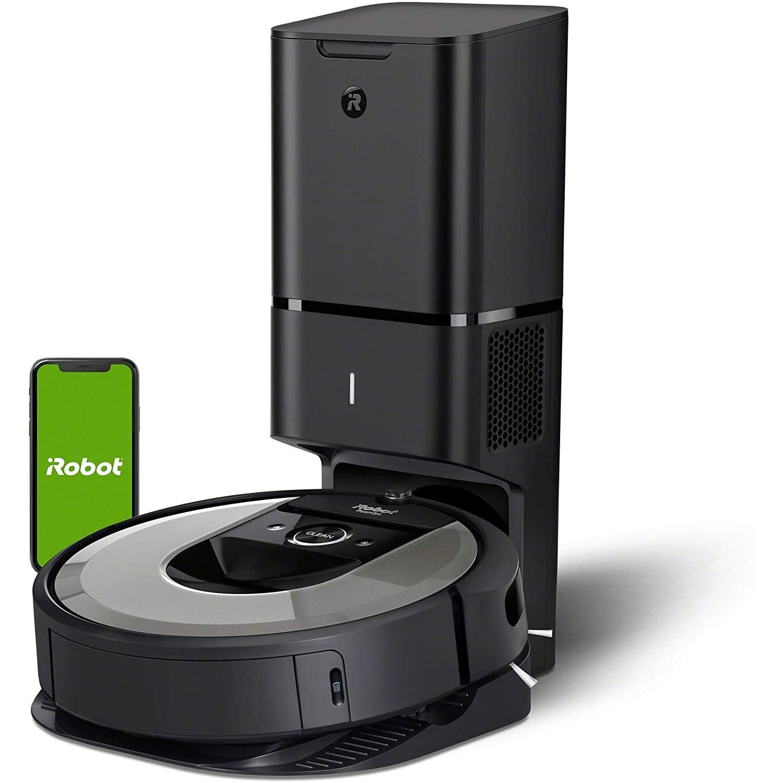 iRobot 艾罗伯特 Roomba i7+ 扫地机器人 带自动吸尘站 亮银色