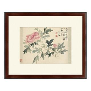 古典中式花卉《牡丹图》恽寿平 国画水墨画 背景墙装饰画挂画