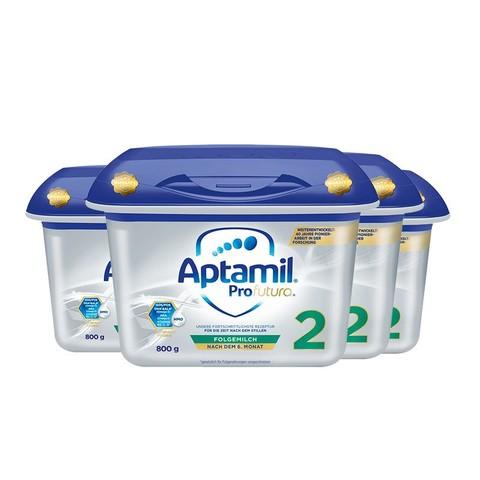 德国爱他美较大婴儿配方奶粉白金版2段6-12个月 800g*4盒